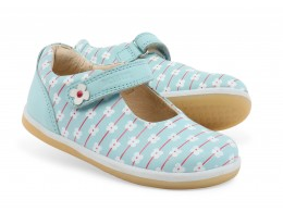 Pantofi fete Delight din piele naturala bleu aqua