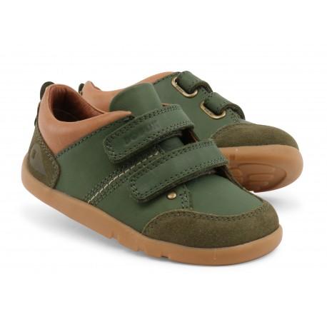 Pantofi baieti sport Switch din piele naturala verde