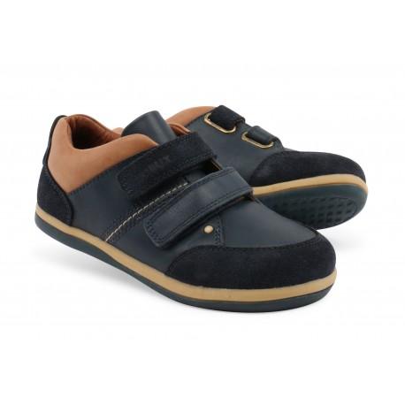 Pantofi baieti sport Class din piele naturala bleumarin