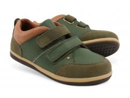 Pantofi baieti sport Class din piele naturala verde