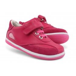 Pantofi fete sport Fire din piele naturala fucsia