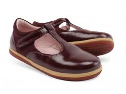 Pantofi fete Shine din piele naturala mov pruna