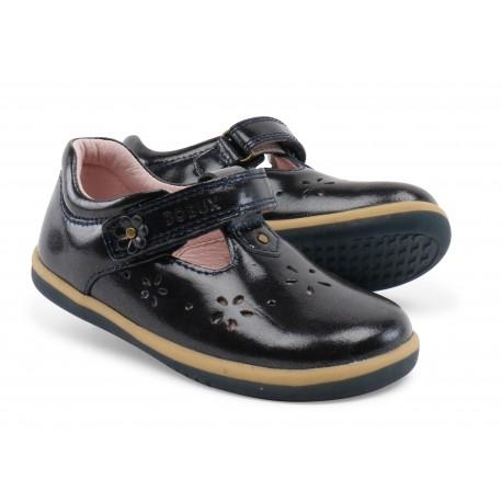 Pantofi fete negru Midnight Gloss din piele naturala lacuita