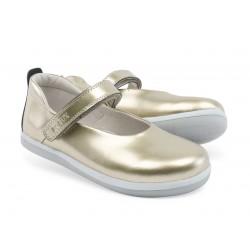 Pantofi fete auriu Swirl din piele naturala