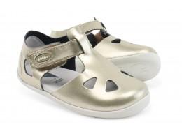 Sandale fete Zap din piele naturala auriu