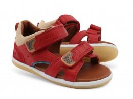 Sandale baieti rosu Rachet din piele naturala