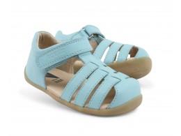 Sandale fete Jump din piele naturala bleu