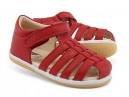 Sandale copii rosu Skip din piele naturala