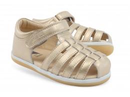 Sandale fete auriu Skip din piele naturala