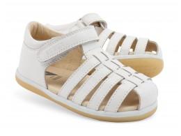 Sandale fete alb Skip din piele naturala