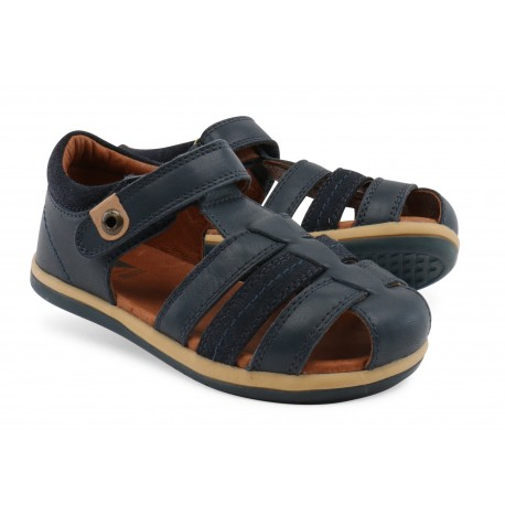 Sandale baieti Rove din piele naturala bleumarin