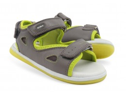 Sandale baieti Surf din piele naturala gri
