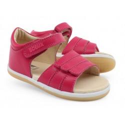 Sandale fete Summer din piele naturala roz fucsia