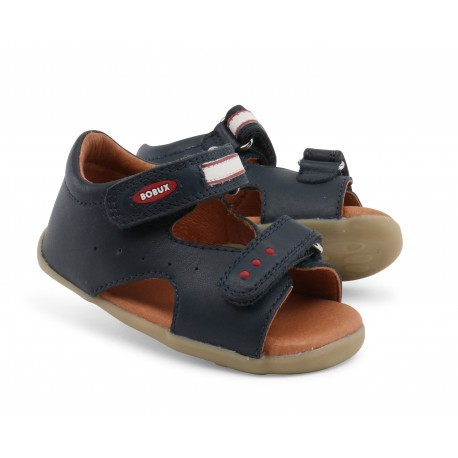 Sandale baieti Trekker din piele naturala bleumarin