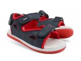 Sandale baieti Surf din piele naturala bleumarin