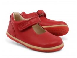 Pantofi fete rosu Delight din piele naturala