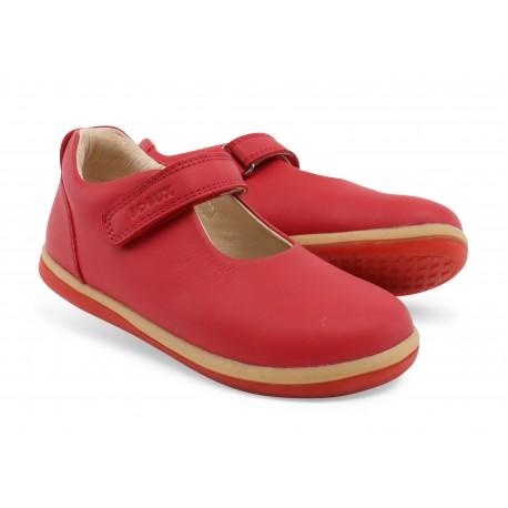 Pantofi fete rosu Charm din piele naturala