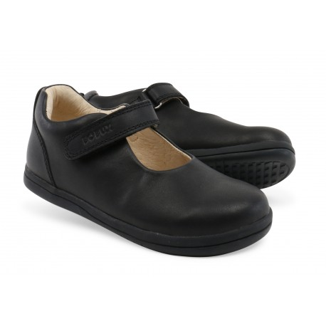 Pantofi fete negru Charm din piele naturala