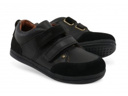 Pantofi baieti negru Class din piele naturala