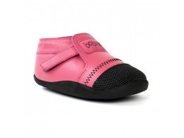 Pantofi fete roz Xplorer din piele naturala si lana merinos