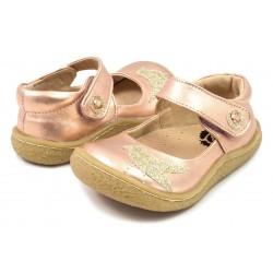 Pantofi fete auriu Pio Pio din piele naturala