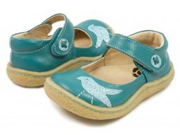 Pantofi fete Pio Pio din piele naturala albastru turcoaz