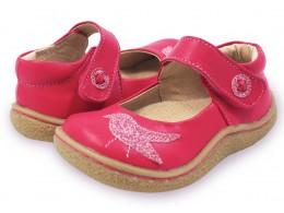 Pantofi fete Pio Pio din piele naturala roz aprins