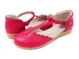 Pantofi fete Fresca din piele naturala roz