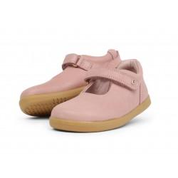 Pantofi fete Delight din piele naturala roz