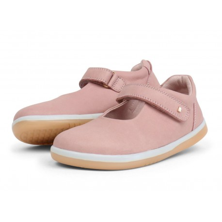 Pantofi fete Delightful din piele naturala roz