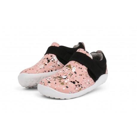Pantofi fete Spekkel din piele naturala roz