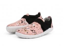 Pantofi fete Spekkel Kid+ din piele naturala roz