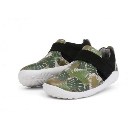 Pantofi copii Habitat din piele naturala verde