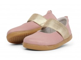 Pantofi fete Sparkle din piele naturala roz