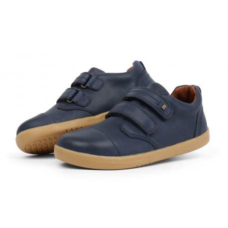Pantofi baieti Portal din piele naturala bleumarin
