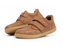 Pantofi baieti sport Portal din piele naturala maron caramel