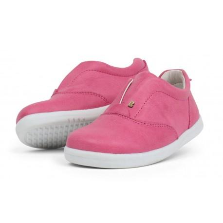 Pantofi fete sport Duke din piele naturala roz