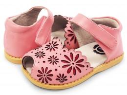 Sandale fete Carmen din piele naturala roz