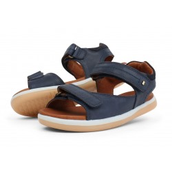 Sandale baieti Driftwood Kid din piele naturala bleumarin