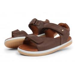 Sandale baieti Driftwood Kid din piele naturala maron