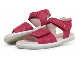 Sandale fete Hampton Kid din piele naturala roz fucsia