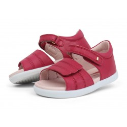 Sandale fete Hampton din piele naturala roz fucsia
