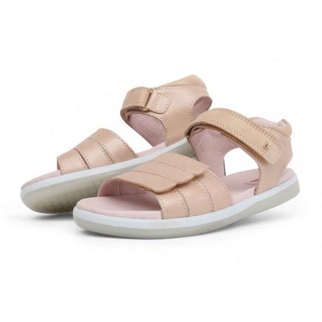 Sandale fete Hampton Kid din piele naturala bej auriu