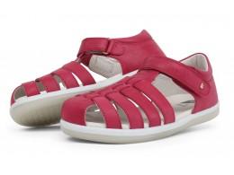 Sandale fete Rove Kid din piele naturala roz inchis