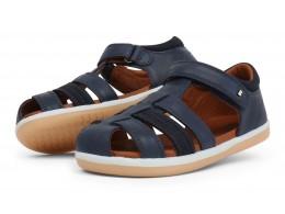 Sandale baieti Global Kid din piele naturala bleumarin