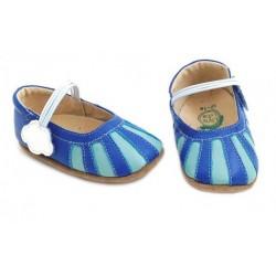 Pantofi bebelusi albastru Dawn din piele naturala