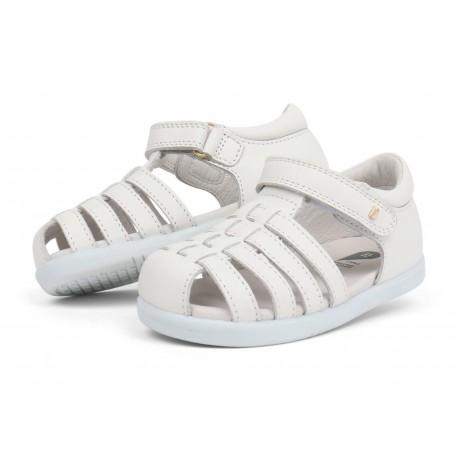 Sandale copii alb Rove din piele naturala