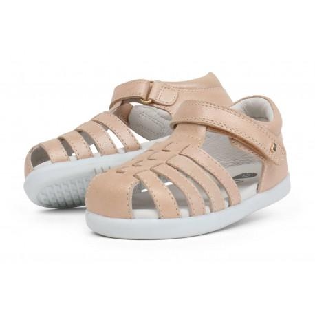 Sandale copii Rove din piele naturala bej