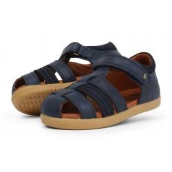 Sandale baieti Global din piele naturala bleumarin SS18