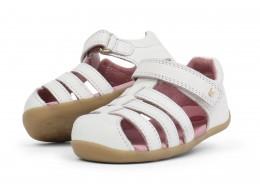 Sandale copii alb Jump din piele naturala